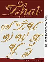 Thai Calligraphic Alphabet Set