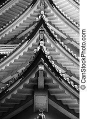 Nagoya castle architecture - Close up shot of Nagoya castle...