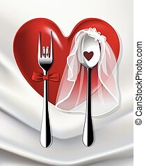 fork and spoon married