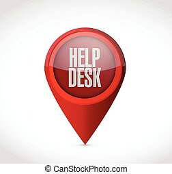 help desk locator pointer illustration design over a white...