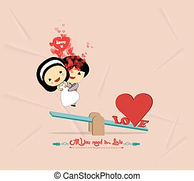 valentines day with seesaw romantic