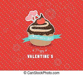 Happy valentines day cupcake sweet