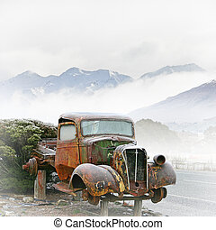 Old Truck - An Old Truck with a Morning Frost