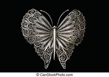 Filigree butterfly - Traditional ornament, hand made from...