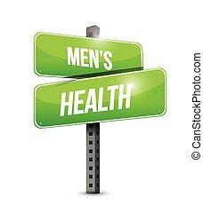 men's health road sign illustration
