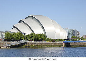 Glasgow-06-0106 - The Armadillo concert hall on the bank of...