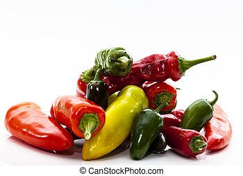 Variety of Fresh Picked Hot Peppers