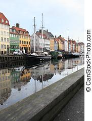 Nyhavn - View to Nyhavn, Copenhagen, Denmark