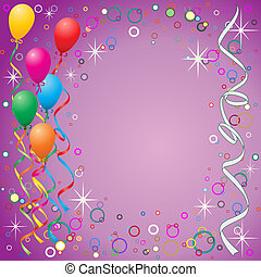Balloons Background - A Party Background with Balloons