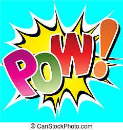 Comic Book Illustration - A Pow Comic Book Illustration