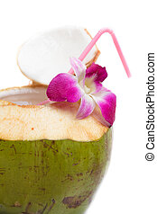 Coconut water drink. - coconut water drink, thailand.