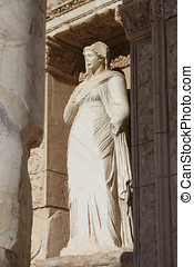 Antique statue - Antique marble statue in ancient city
