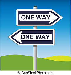 One Way Sign - A Vector One Way Sign