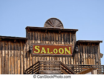 saloon - old western style wooden saloon