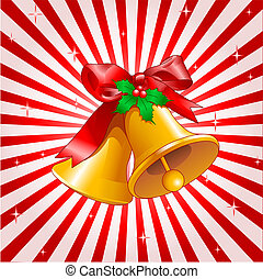 Christmas bells Design - Vector Christmas background with...