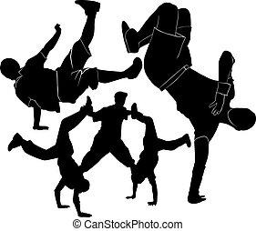 breakdance silhouette break dance
