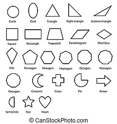 geometric shapes vector - image of shapes chart for kids...