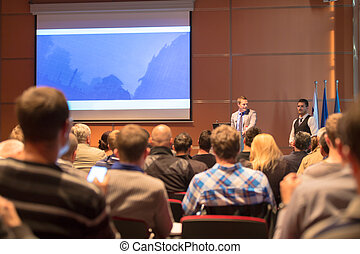Public speaker at Business Conference. - Speakers at...
