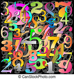 Numbers - An Abstract Background with Numbers