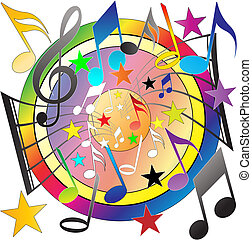Musical Background - A Vector Musical Notes Background