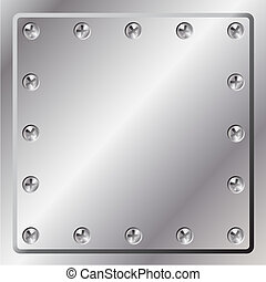 Metal Background - A Metal Background with Screws