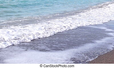 Sea Waves - The Waves Rolled on the Sandy Shore