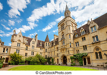 Balliol College. Oxford, England - Front Quadrangle at...