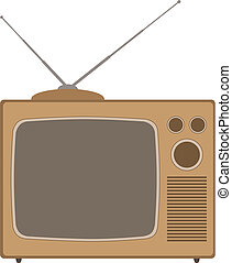 Television - An Old Style Television Set
