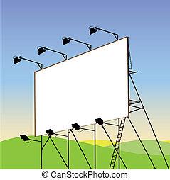 Billboard - A Blank Billboard with Landscape