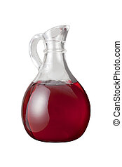 Red Wine Vinegar isolated on a white background