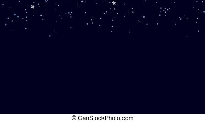 Silver Stars - Blue, night, seamless background with shiny,...