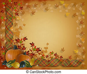 Thanksgiving Autumn Fall Border - Image and Illustration...