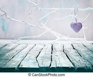 Valentines background - Valentines day background. Wood...