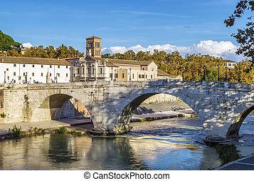 Pons Cestius, Rome - The Pons Cestius Ponte Cestio, Cestius...