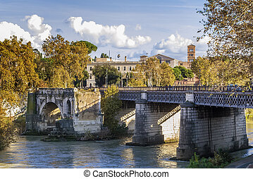 Pons Aemilius, Rome - The Pons Aemilius, today called Ponte...