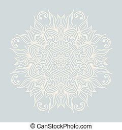 winter celtic knot pattern card, mandala, amulet - winter...
