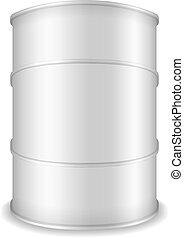 White Barrel - White barrel on white background, vector...