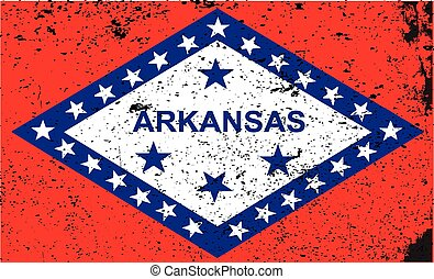 Arkansas Flag - The state flag of the USA state of Arkansas...