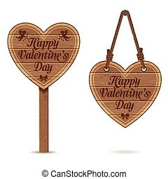 Valentines Day - Collect Valentines Day Wooden Sign Heart...
