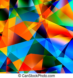 Abstract Colorful Triangle Pattern