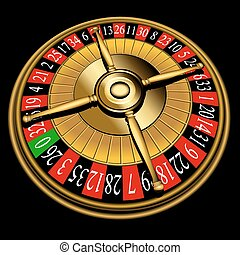 Roulette wheel, vector