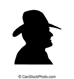 silhouette of man isolated on white background. Vector...