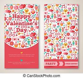 Set Of Happy Valentines