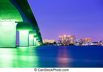 Sarasota, Florida, USA downtown city skyline