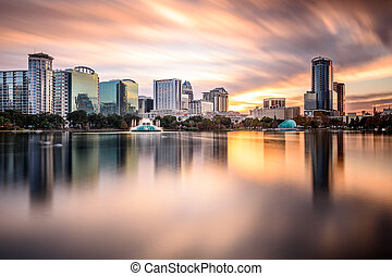 Orlando, Florida Skyline - Orlando, Florida, USA downtown...
