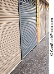 roller shutter door of front gate store