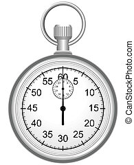 Stop watch - Manual sports stop watch in a vector for...