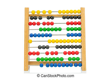 abacus with colorful beads, symbolic photo for finance,...
