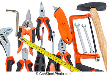 hand tool selection - hand tool symbol photo for building,...