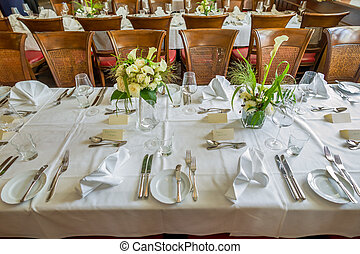 table laid, icon event catering, parties